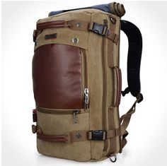 Witzman Mens Vintage Canvas Duffel Shoulder Backpack Travel 21 INCH Light Green >>> You can get more details by clicking on the image. Shoulder Backpack, Backpack Straps, Men's Backpack, Leather Backpack, Pu Leather, Best Travel Backpack, Trolley Bags, Tactical Bag, Vintage Backpacks