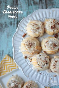 Pecan Cheesecake Rolls   Crumbs and Chaos