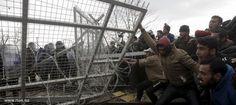 اشتباكات بين المهاجرين وشرطة مقدونيا