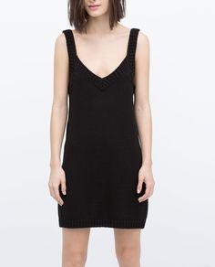 KNITTED SLEEVELESS DRESS - View all - Knitwear - WOMAN - SALE   ZARA United Kingdom