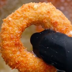 And let everything fry until crispy and golden brown: | These Mozzarella Stick Onion Rings Should Run For President
