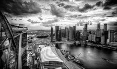 Singapore Skyline from Marina Bay Sands Skypark by kazeeee, via Flickr