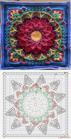 Mandala: Crochet Motifs...? Deniz ? (Mix Patterns Yarns)