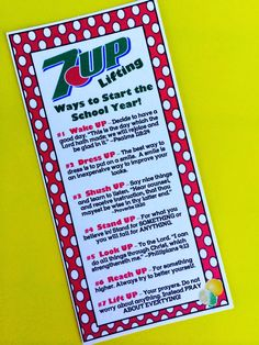 7-UP Back to School Treat. From Marci Coombs Blog.