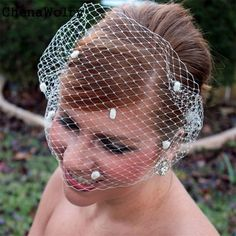 >> Click to Buy << ChenaWolry 1PC Attractive Fashion Accessories Women Wedding Bridal Birdcage Face Veil Evening Veils With Comb Trendy Oct 12 #Affiliate