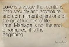 Marriage is not the end of romance, it is the beginning
