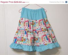 Patchwork Twirly Skirt Girl's Ruffled skirt by creationsbyjessi, $22.53
