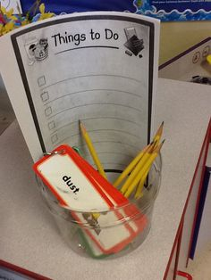 to do list with chore cards-Annette Rodriguez DVISD