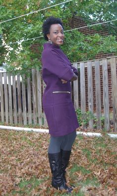 Renee's Go Team Baltimore Ravens purple dress made from Mood's twill. #moodfabrics