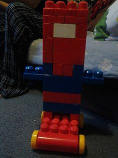 Tried to make Spider Man a block from my baby