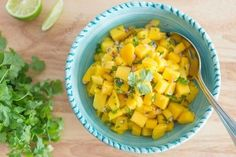 This Mango Salsa is light and refreshing with a slight bite from the red onion. Perfect to top fish, chicken, or just a chip.