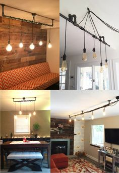 5 Pendant Light  Wrap a stick or pipe rustic chandelier