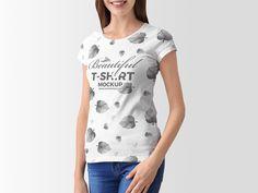 Free Stylish Young Woman T-Shirt Mockup Of 2018 8910392599fec