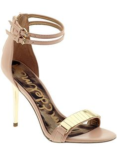 gold and neutral heels
