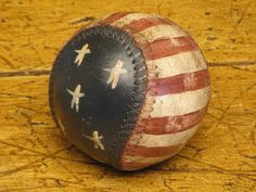Americana Baseball | Stars And Stripes Baseball | Hand Painted Baseball | Repurposed Baseball by kittredgemercantile on Etsy