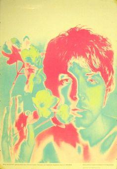 Beatles Paul McCartney, 1967 - original vintage poster by Richard Avedon listed on AntikBar.co.uk