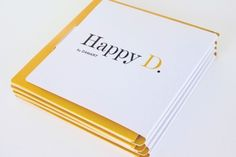 Press dossier for Happy D. Belgium & France.  Printed in two Pantone colours yellow and black.  The booklet was printed in full colour.    ©2011 - Visueel Advertising.   Visit a selection of our work on www.visueel-adv.be  #graphic #design