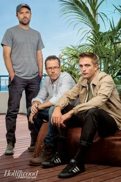 The 3 Amigos... another new Cannes 'The Rover' portrait of David Michod, Guy Pearce, and Rob