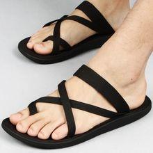 Zapatos de Vietnam Flip Flop Sandalias de Verano 2017 Nuevos Hombres Del Diseño de Zapatillas Zapatos de Playa Plana antideslizante Zapatillas y Sandalias tres Colores(China (Mainland))