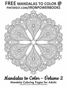 Hello there @cathymalchiodi, this is a FREE Mandala Coloring Page from our Mandalas to Color - Volume 2 | we've got lots of original FREE Mandalas to print on our boards, please follow to be updated when we add more! Indeed and Art Therapy by Coloring