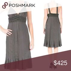"""🌷HP🌷Catherine Malandrino Dress Hidden Side Zipper Knee Total Length 41 1/2"""" Bust Across 13 1/2"""" Waist Across 13""""  Cotton/Silk Style Number 083DWK50  Own a piece of this rare collection brought to you from Catherine's original vault! Many of these beautiful items are one of a kind, exclusive and showcased by celebrities like Taylor Swift, Beyonce and Katy Perry Catherine Malandrino Dresses"""