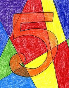 Art Projects for Kids: Abstract Numbers