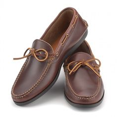 Gilman Camp-moc in Carolina Brown from Rancourt & Co. Handswen Moccasin Construction. Made in Maine, USA.