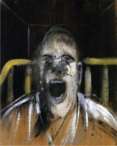 Estudio para la cabeza del papa gritando, de Francis Bacon