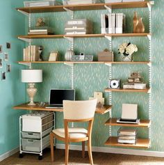 off all Elfa Shelving Want to get a home office, closet, pantry or garage organized? All Elfa Shelving is off at the Container Store. Elfa Shelving, Office Shelving, Modular Shelving, Shelving Systems, Shelving Ideas, Modern Shelving, Office Shelf, Shelf System, Adjustable Wall Shelving