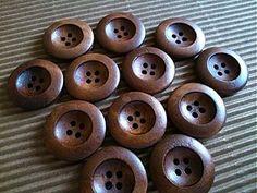 Galantéria - Drevený gombíček (priemer 2,5cm) - 3203511