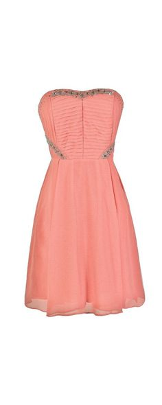 Bling It On Embellished Chiffon Party Dress in Pink  www.lilyboutique.com