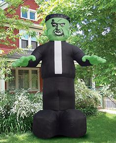 frankenstein monster airblown 16 feet tall inflatable yard decor halloween theme ss62316g by gemmy - Cheap Halloween Yard Decorations
