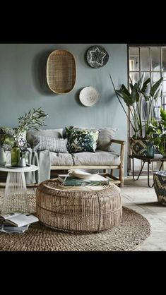 great colors, shapes, and textures in this beautiful room Rustic Apartment, Apartment Living, Living Room Decor, Drawing Room Decoration