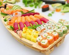 All aboard on the Sushi Boat!