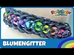 ▶ Rainbow Loom Blumengitter Armband - deutsche Anleitung - YouTube