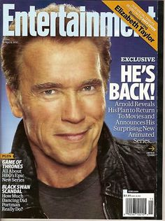 Entertainment Weekly,Elizabe​th Taylor, Arnold, Game of Thrones,April 8, 2011~NEW