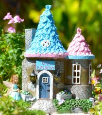 fantasy solar house fairy garden cottages pinterest christmas rh pinterest com fairy garden homes and cottages fairy garden cottage kit