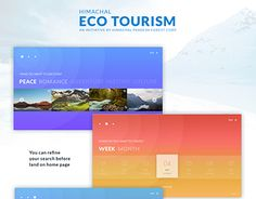 "Check out new work on my @Behance portfolio: ""Himachal Eco Tourism"" http://be.net/gallery/47037839/Himachal-Eco-Tourism"