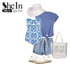 """SheIn - Even beach babes have to cover up sometimes"" by colourfulxchaos on Polyvore"