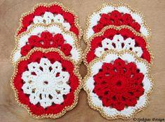 Crochet Coaster Doily Christmas