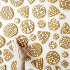 mudcloth gingerbread cookies