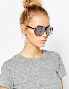 Quay Macaw Black Silver Mirror Sunglasses