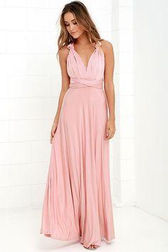 Pretty Maxi Dress - Convertible Dress - Blush Pink Dress - Infinity Dress - $58.00