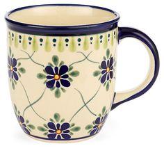 One Kings Lane - Polish Pottery - Coffee Mug, Aegean Floral