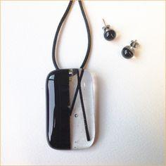 Glass jewelry • Big black set