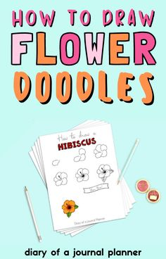 Learn how to draw flowers with these stunning flower doodles tutorials! #flowers #doodles Doodle Learn, You Doodle, Learn To Draw, Love Doodles, Simple Doodles, Bullet Journal Art, Art Journal Pages, Doodle Drawings, Easy Drawings