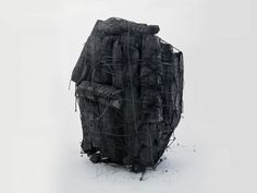Lee Bae, Untitled (2000), charcoal and elastic string