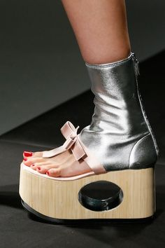 Another outrageous pair of Prada's Geta shoes.