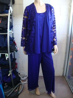 Eve Hunter Pant Suit. Beautiful lace jacket and camiwith lined mesh pants from Eve Hunter. Made in Australia.