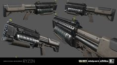 Weapon created for Call of Duty: Infinite Warfare.  These weapons were an amazing experience to work on alongside the incredibly talented weapons team at IW.   Design - IW Weapons Team Blockout - IW Weapons Team High Poly Model - RYZIN Game Model UVs -  RYZIN Texturing/Materials - RYZIN